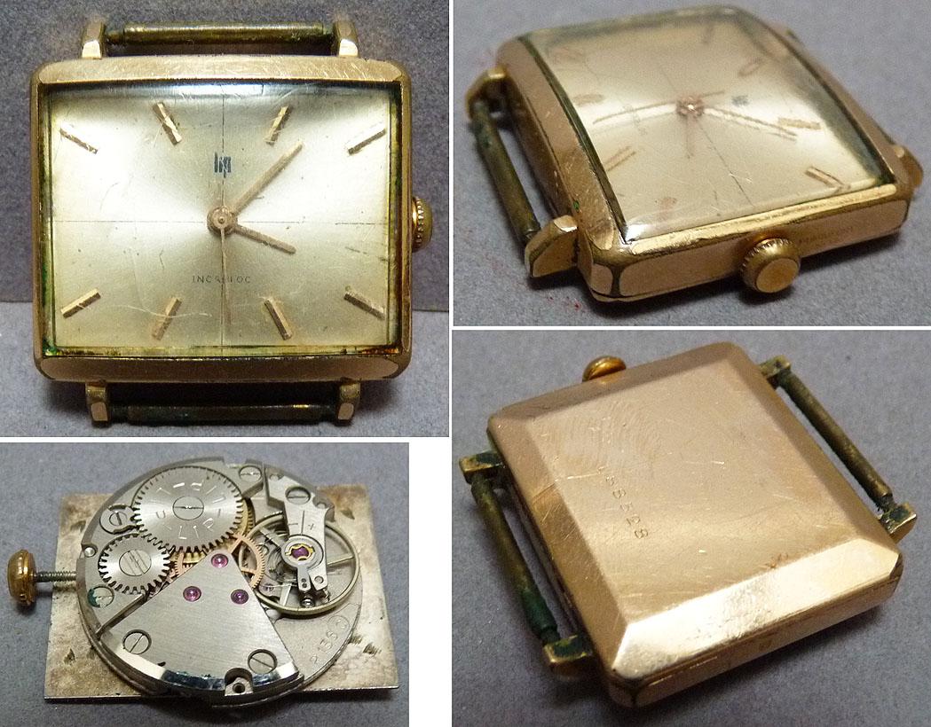 montre pour homme lip m canique vers 1950 watch ebay. Black Bedroom Furniture Sets. Home Design Ideas