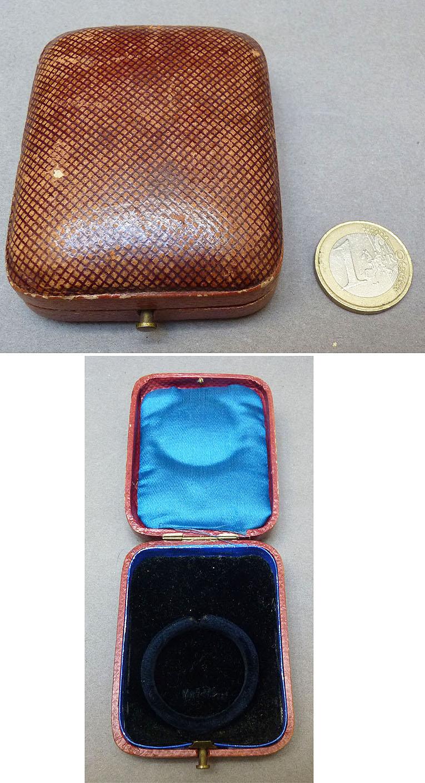 boite crin bijou pour ranger montre porte montre gousset vers 1910 ebay. Black Bedroom Furniture Sets. Home Design Ideas