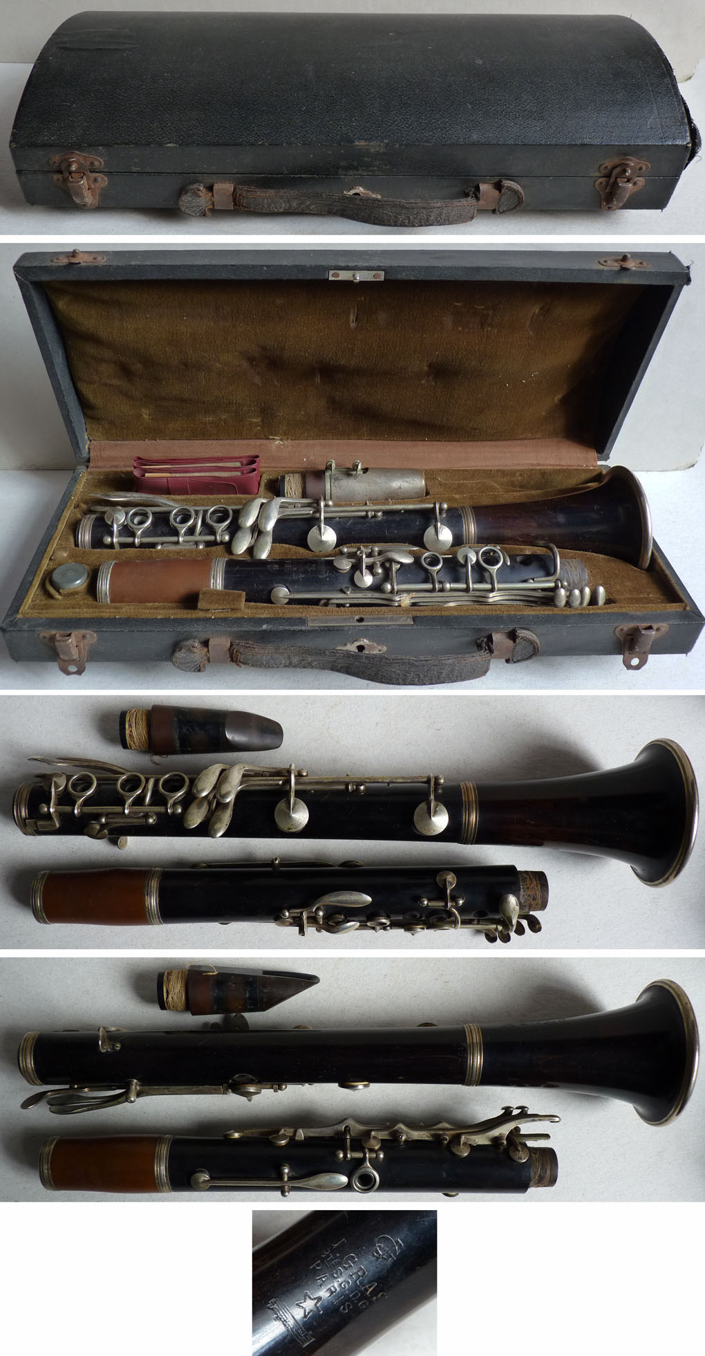 superbe clarinette en bois gras avec boite 19e si cle ebay. Black Bedroom Furniture Sets. Home Design Ideas
