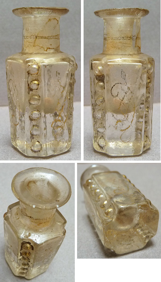 petit flacon parfum en verre avec dorures 18e siecle 18th century bottle ebay. Black Bedroom Furniture Sets. Home Design Ideas