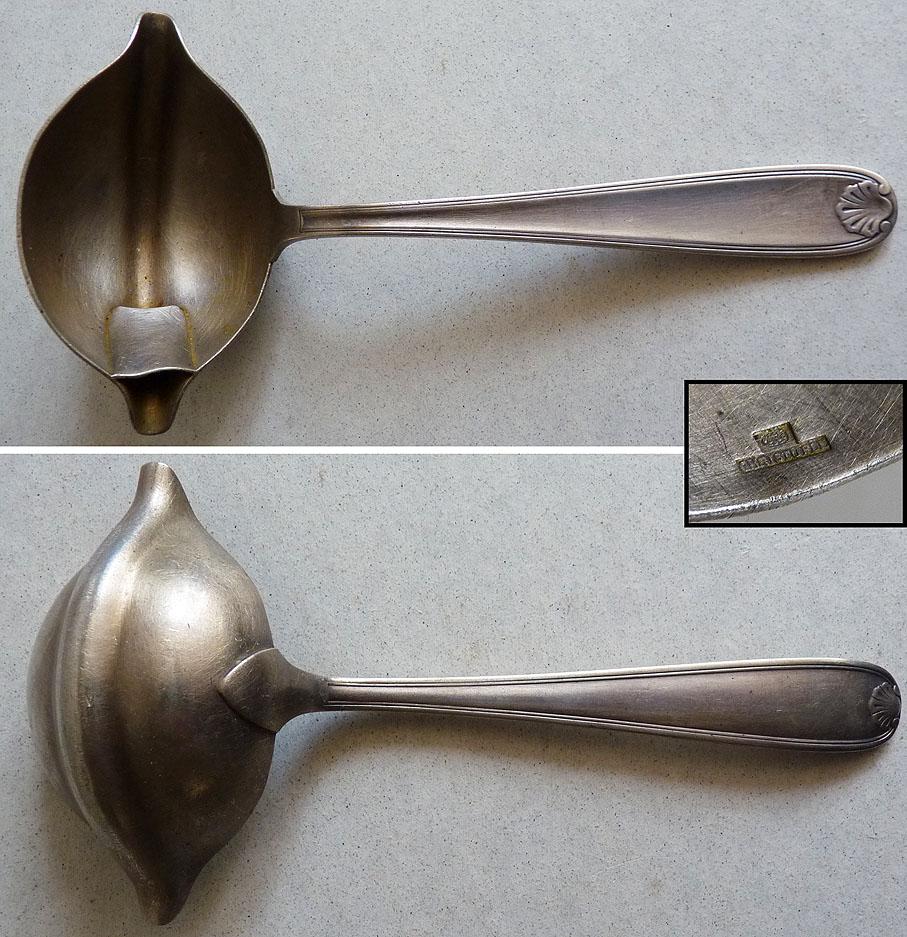 cuill re louche sauce en metal argent christofle ebay. Black Bedroom Furniture Sets. Home Design Ideas