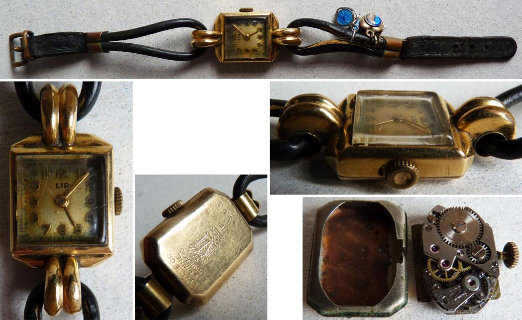 Préférence Ancienne montre femme LIP mécanique plaqué OR Art Deco watch | eBay LR49